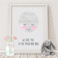 We Love You Moon Print
