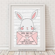 Bunny Mail Birth Print