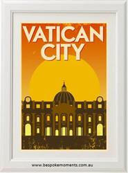 Vintage City Print - Vatican City
