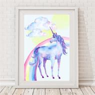 Unicorn Rainbow Print