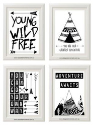 Monochrome Adventure Set of 4