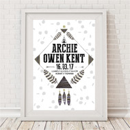 Tribal Adventure Birth Print