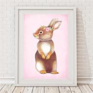 Blush Vintage Bunny Print