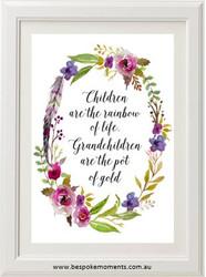 Children and Grandchildren Print