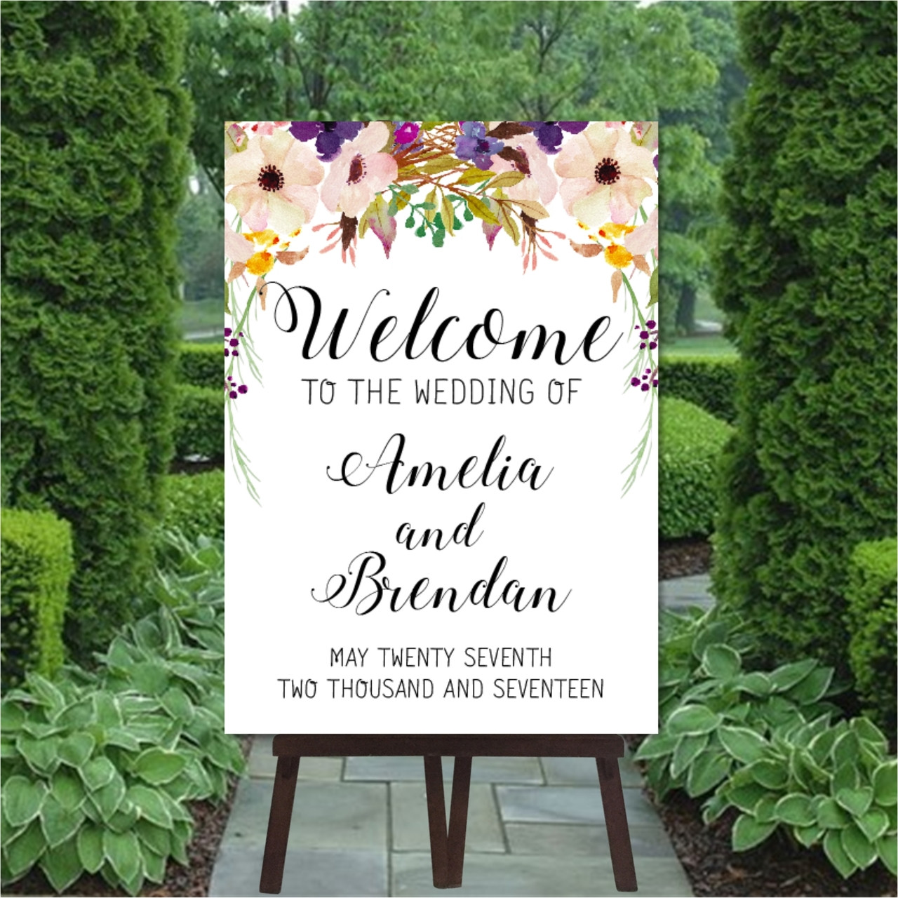 Wedding Welcome Sign.Romance Wedding Welcome Sign