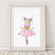 Kitty Sparkle Swing Print