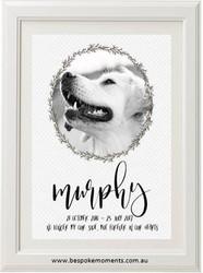 Pet Memorial Print - Grey