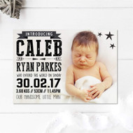 Pack - Mono Baby Announcement Card