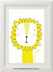 Mustard Lion Print