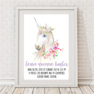 Unicorn Magic Birth Print