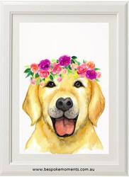 Holly Dog Print