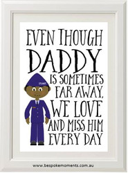 Daddy/Mummy We Miss You Print - Air Force Uniform 1