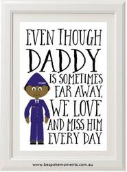 Daddy/Mummy We Miss You Print - Air Force Uniform 1