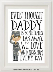 Daddy/Mummy We Miss You Print - Air Force Uniform 2