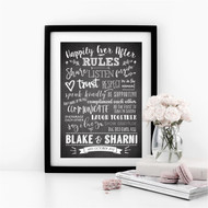 Happily Ever After Rules Print