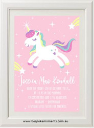 Unicorn Sparkles Birth Print