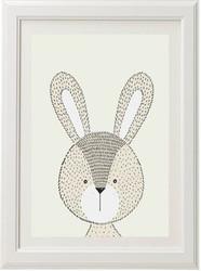 Neutral Rabbit Print