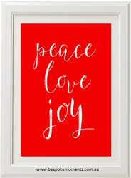 Peace Love Joy Christmas Print