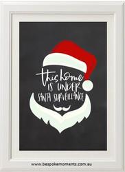 Santa Surveillance Christmas Print