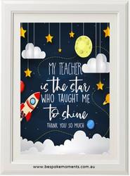 Teacher Star Print