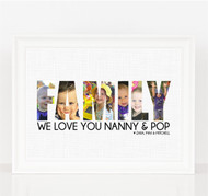 Family Photo Letters Print (Any Word)