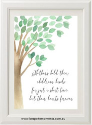 Mother's Hold Tree Print