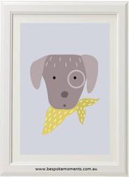 Puppy Neck Tie Print
