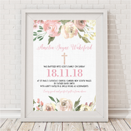 Girls Blooms Baptism Print