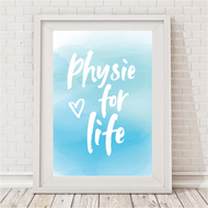 Physie For Life - Watercolour Blue