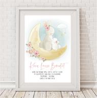 Bunny Love Birth Print