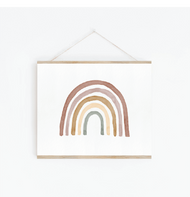 Blush Watercolour Rainbow Print