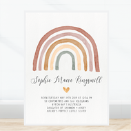 Blush Rainbow Birth Print