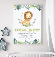 King Of The Jungle Birth Print