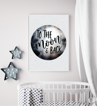 Moon And Back Print