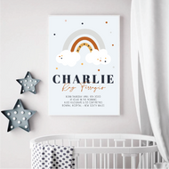Charlie Rainbow Birth Print