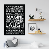 Playroom Rules Canvas Art Ready to hang