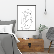 La Femme Line Art Print