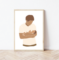 Daddy & Baby Print - Customise Your Colours