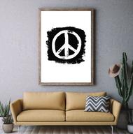 Industrial Brush Stroke Peace Sign Print