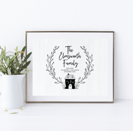 Our Home Personalised Home Print