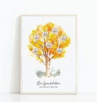 Copy of Our Grandchildren Family Tree Print Yellow (Any number of kids)