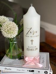 The Zara Baptism Candle