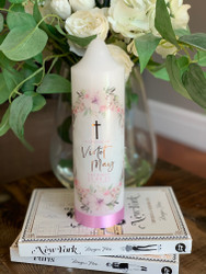 The Violet Baptism Candle