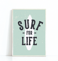 Surf For Life Print (5 Colours)
