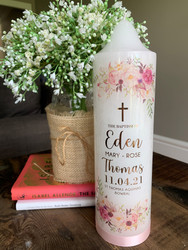 The Eden Baptism Candle