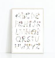 Whimsical Floral Alphabet Print