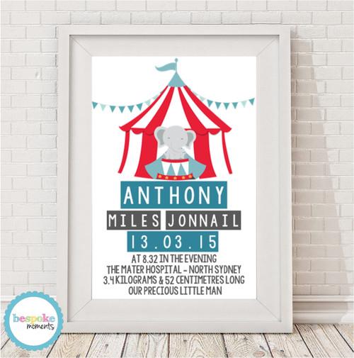 Product image of Circus Birth Print