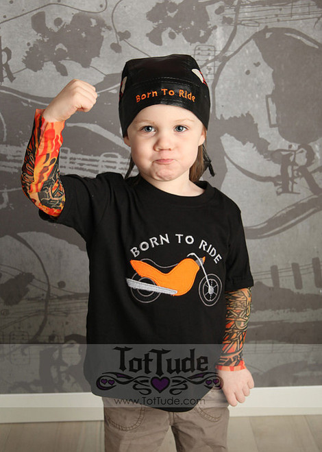 Biker Born to ride tattoo tee