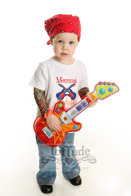 Mommy's Rock Star tattoo tee