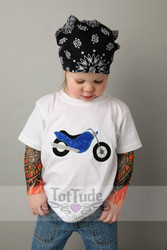 Chopper motorcycle tattoo tee